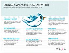 Buenas y malas prácticas en Twitter #infografia #infographic #socialmedia