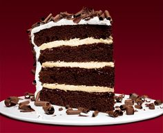 Devil's Food Layer Cake with Peppermint Frosting Recipe - Bon Appétit Chocolate Curls, Chocolate Cream, Chocolate Ganache, Baking Chocolate, Chocolate Desserts, Frosting Recipes, Cake Recipes, Dessert Recipes, Dessert Ideas