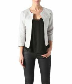Veste blazer courte femme black iris Taille 44 – Camaïeu