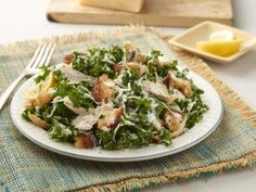 This Kale Buttermilk Caesar Salad with Chicken is a filling, protein-packed dish good for lunch or dinner.