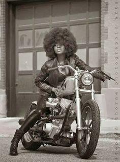 Black girls biker Hardcore