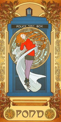 I love art nouveau, I love Dr. Who.   This poster is an easy score with me!
