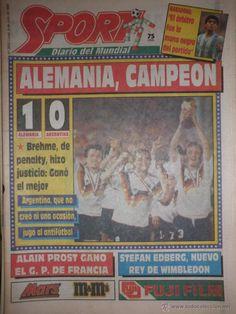 Diario Sport - Alemania 1 · Argentina 0 - Final Copa del Mundo - Mundial Italia 1990 - Maradona ABS - Foto 1