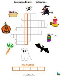 Kruiswoordpuzzel Halloween #puzzels #kruiswoordpuzzels #kinderpuzzels…
