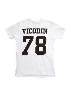 Women's White/Black Vicodin Tee by Brian Lichtenberg - ShopKitson.com