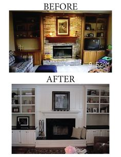 Brick fireplace - no more brick!
