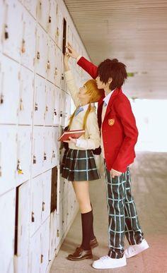 Anime Cosplay Shizuku Mizutani, romantic couples.