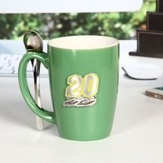 Matt Kenseth Ceramic Spoon Mug - Green - $19.99
