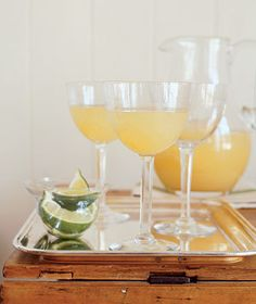 pear mimosas - I had these every morning on our honeymoon!