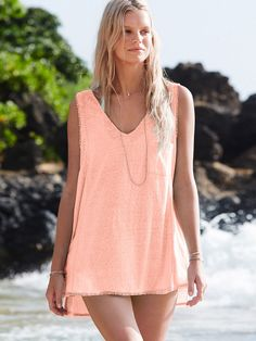 V-neck Cover-up Tank - Easy Tees - Victoria's Secret