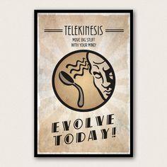 Bioshock Inspired Plasmid Poster  Telekinesis por WestGraphics, $18.00