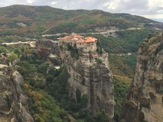 Meteora Greece. 16-17th Century cathedrals built on top of cliffs http://ift.tt/2DIEMPX