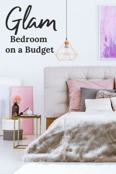 You want your very own glam bedroom but you know chandeliers are expensive, right? Check out these amazing ideas for a glam bedroom on a budget!