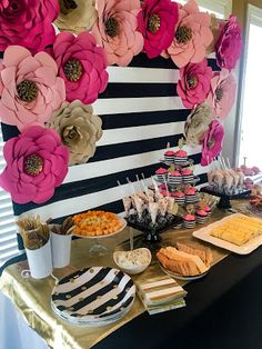 Kate Spade party theme ideas. Kate Spade bridal shower decorations.