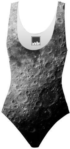 Moon One Piece Swimsuit - Available Here: http://printallover.me/collections/sondersky/products/0000000p-moon-7