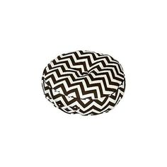 inch Round Floor Pillow Zig Zag fabric ❤ liked on Polyvore