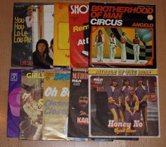 """10x 7"""" Vinyl Collection MIDDLE OF THE ROAD BROTHERHOOF OF MAN SHOWADDY WADDY"""