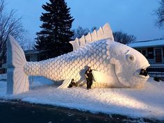 The Out Of This World Snow Sculpture You'll Only Find In Minnesota This Winter