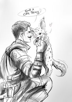 """mica-sky: """" I truly believe Dorian is a fennec person in secret. And my point is: I've seen people saying that Dorian might be a cat person, BUT. Why cats, when in Inquisition we got this little cute fluffy thigs called fennec running around? They..."""