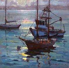 Monterey Moonbeam by Jim Wodark Oil ~ 20 x 20