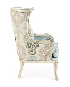 Silver Damask Chair