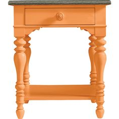 Stanley Furniture Spanish Orange Cerused Oak Side Table (54,345 INR) ❤ liked on Polyvore featuring home, furniture, tables, accent tables, stanley furniture, spanish furniture, spanish table, orange side table and orange end table