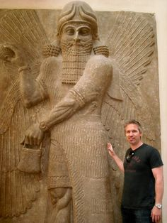 Gilgamesh and I at the Louvre