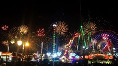 Beautiful fireworks at Global Village in Dubai