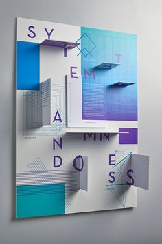 Systematic Randomness, a self promotional interactive 3D poster by Lauren Messina