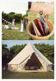 """Have a few teepees for guests to go into to relax, and perhaps a """"kids"""" teepee for kids to hang out in and do arts and crafts.  Side note:  Kyle Nichols has a giant circus tent, and Larry Christensen has 2 teepees."""