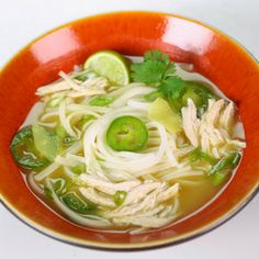 Way to use leftover grilled chicken - Leftover Thai Chicken Soup by Carla Hall from The Chew