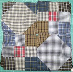Life is a Stitch: Seven Shirts + Seven Steps = One Thrifty Quilt. Use for a memory quilt.