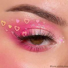Pretty Eye Makeup, Makeup Eye Looks, Eye Makeup Art, Fairy Makeup, Pink Makeup, Cute Makeup, Colorful Makeup, Eyeshadow Makeup, Pink Eyeliner