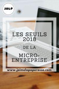 Les seuils 2018 de la micro-entreprise  La micro-entreprise a évolué le 1er janvier 2018. Attention à la TVA ! #entrepreneur #entreprise #creation #jaimelapaperasse