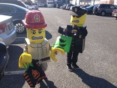 LEGO Man Costume: This is my first instructable so I apologize if its long winded but I'll do my best to explain :) Lego Halloween Costumes, Lego Man Costumes, Lego Costume, Diy Costumes, Trunk Or Treat, Character Costumes, Minions, Pictures, Role Play Outfits