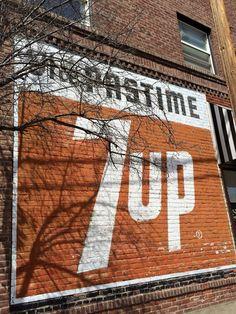 7up brick ad | Redmond, Oregon | by eg2006 via Flickr #brick_ad #sign #vintage #7up #oregon