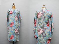 vintage 1930s barkcloth floral kimono jacket by thegreedyseagull, $138.00
