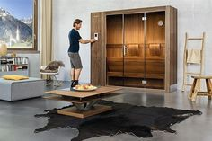 Discover the sauna of the future. Discover the Sauna S1 from KLAFS. Klafs has designed the innovative space saving Sauna S1, that fits easily anywhere. #klafs #klafssaunas1 #homesauna #sanilux
