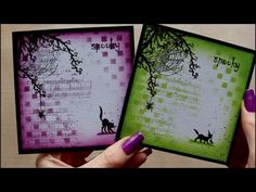 How to make a Spooky Brayer Halloween Card featuring Stampin Up stamps - YouTube
