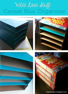 Wilde Designs: Wilde Does Stuff: Cereal Box Organizer