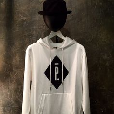 White Hoodie P logo  with Black Nylon Hat. Available in store !  #pigalleparis