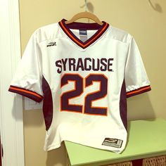 🍊 GO SU - SYRACUSE 🍊 🍊 GO SU 🍊 COOL AUTHENTIC JERSEY - PERFECT CONDITION - FITS AGES 3 to 10 YEARS BOY OR GIRLS. BRINE THE COLLEGIATE COLLECTION. MADE IN USA 🇺🇸 Brine Shirts & Tops Tees - Short Sleeve