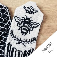 New and improved! Knitted Mittens Pattern, Knit Mittens, Afghan Crochet Patterns, Stitch Patterns, Knitted Hats, Knitting Charts, Knitting Patterns Free, Knitting Projects, Crochet Projects
