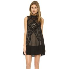 Free People Angel Lace Dress (485 RON) ❤ liked on Polyvore featuring dresses, black, sleeveless lace dress, black dress, black pleated dress, lace overlay cocktail dress and black cocktail dresses