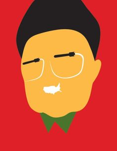 GUESS WHO? KIM JONG-IL http://design-union.ru/authors/practice/what2do/383-noma-bar Known the world over for his cavalier rhetoric about North Korea's nuclear capability, missile contrails make for the glasses of Kim Jong-Il. Commissioned by the Guardian, Bar was under a deadline, and to this day when he looks at this illustration, he wishes he had had the time to use only one missile. Be that as it may, the illustration works, as it looks like Kim and also incorporates what he is known for…
