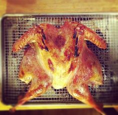 How to Butterfly and Roast a Chicken in Less Than 1 Hour--the butterflying technique lets you roast a whole chicken in the time it takes to put your groceries away