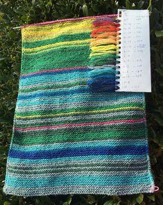 Tot #1april2016 elke dag een toer, 366 dagen! #gradenlap #temperatuurdeken #uitdaging #breien #breienisleuker! #everydayarow #knitting #temperatureblanket #temperatureblanket2016