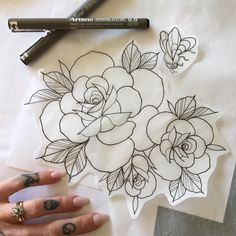 •Looking forward to this afternoon's shoulder roses//~ for Jessica •