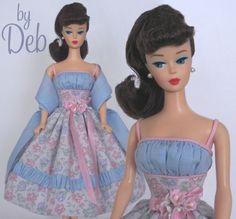 Spring Dream  - Vintage Barbie Doll Dress Reproduction Repro Barbie Clothes