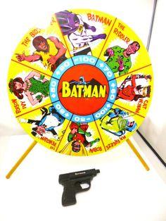 1960's Batman Spin Dart Target Game 16 inches Tin Original Box Free Shipping   eBay